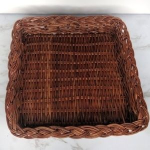 Other - Square Wicker Basket for Boho Accent Wall Decor